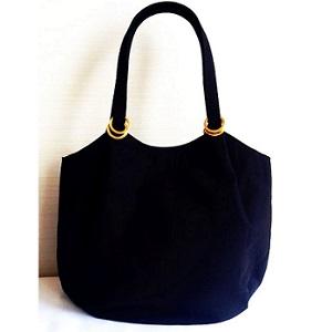 ふろしきぶるバッグ帆布 L黒 - コピー